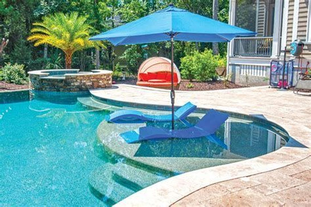 Stunning Backyard Pool Landscaping Ideas 05