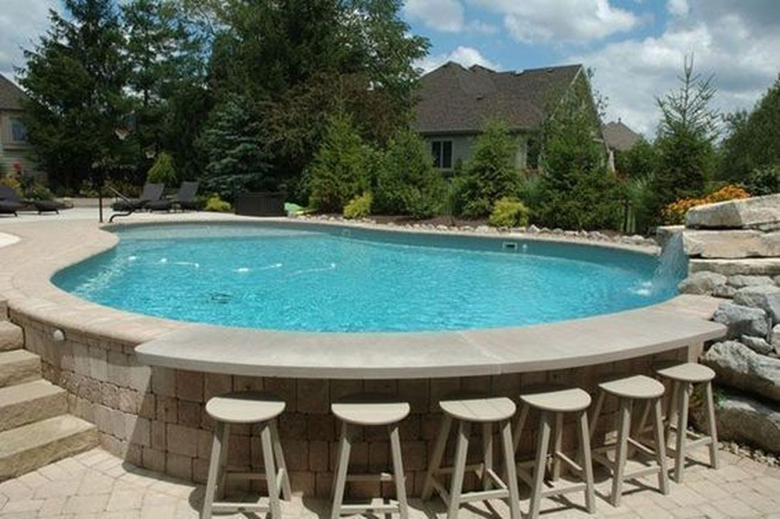Stunning Backyard Pool Landscaping Ideas 30