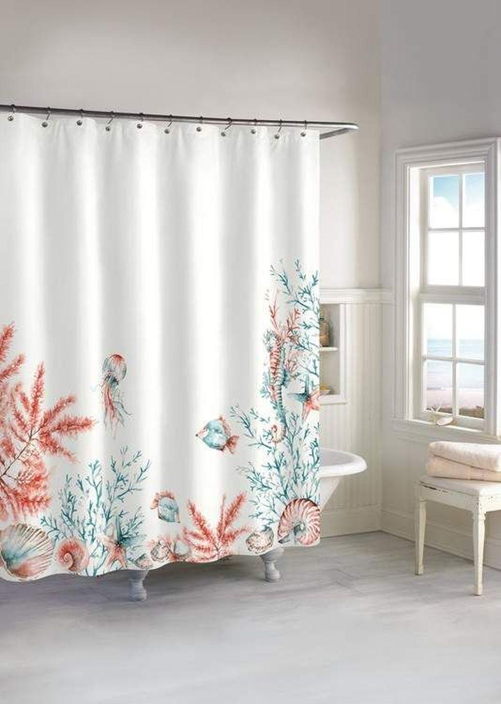 Affordable Coral Color Bathroom Decor Ideas 23