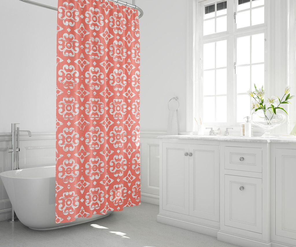 Affordable Coral Color Bathroom Decor Ideas 30