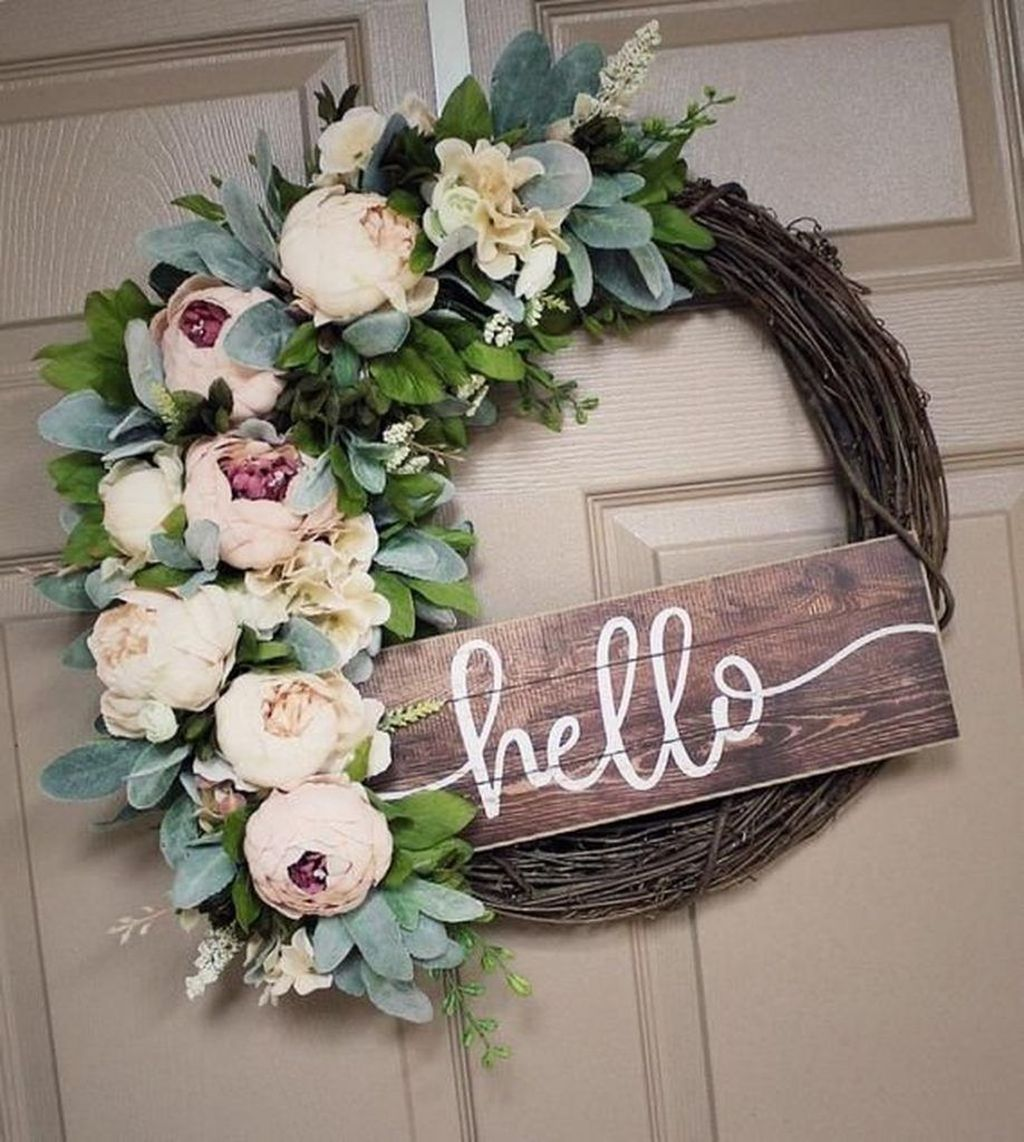 Awesome Spring Wreath Ideas For Front Door Decor 14