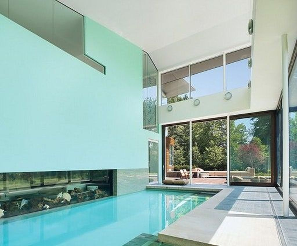 Beautiful Modern Indoor Pool Design Ideas You Must Have 10
