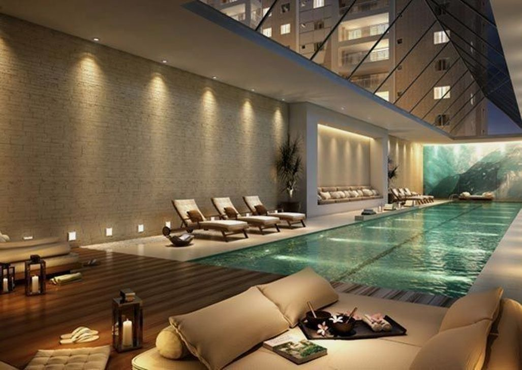 Beautiful Modern Indoor Pool Design Ideas You Must Have 20
