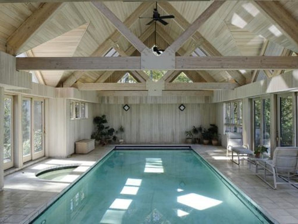 Beautiful Modern Indoor Pool Design Ideas You Must Have 25