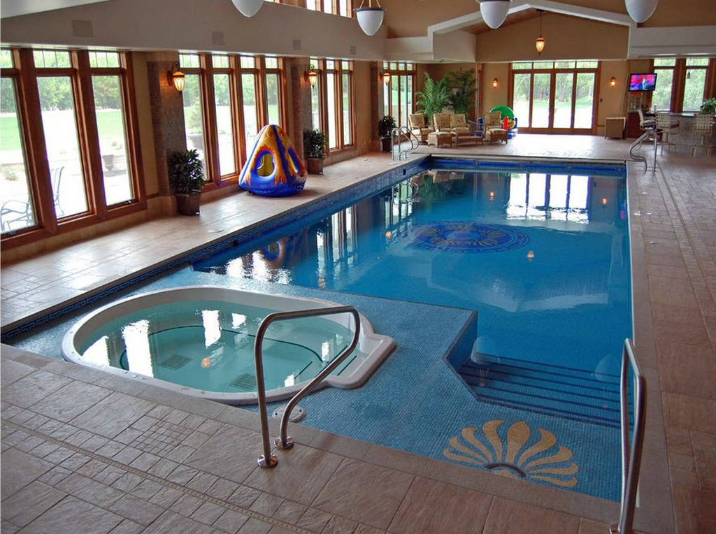 Beautiful Modern Indoor Pool Design Ideas You Must Have 30