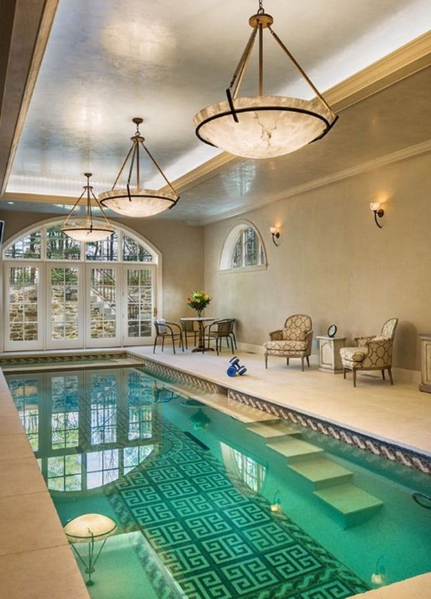 Beautiful Modern Indoor Pool Design Ideas You Must Have 34