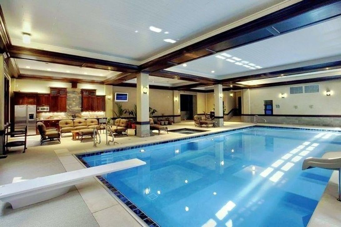 Beautiful Modern Indoor Pool Design Ideas You Must Have 38