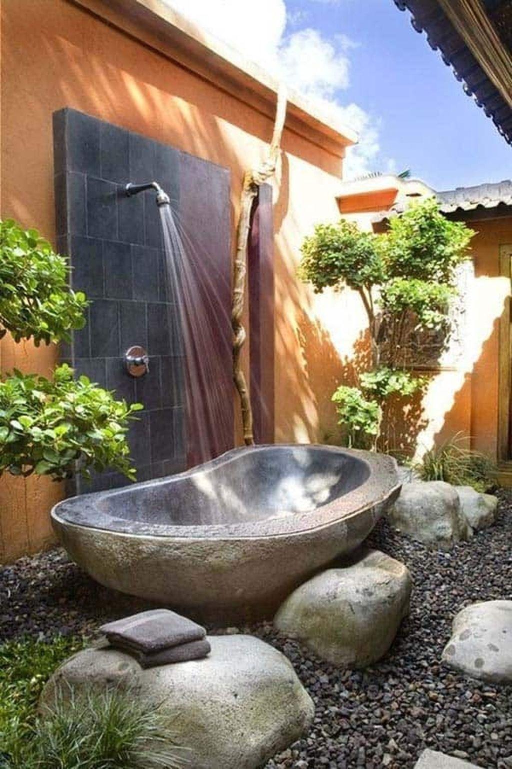 Creative Outdoor Bathroom Design Ideas For Enjoying Summer 06