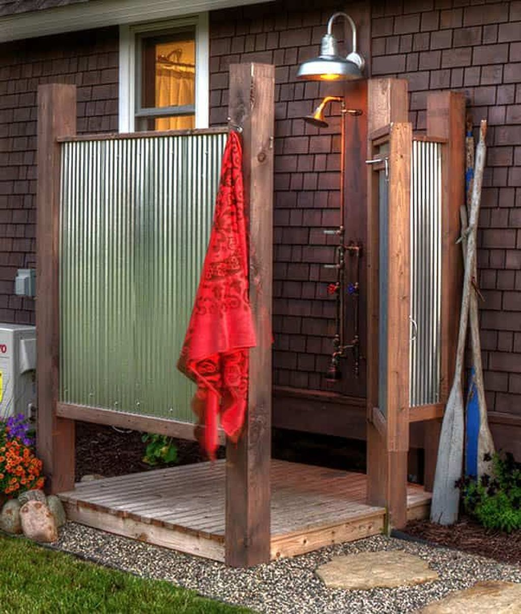 Creative Outdoor Bathroom Design Ideas For Enjoying Summer 20