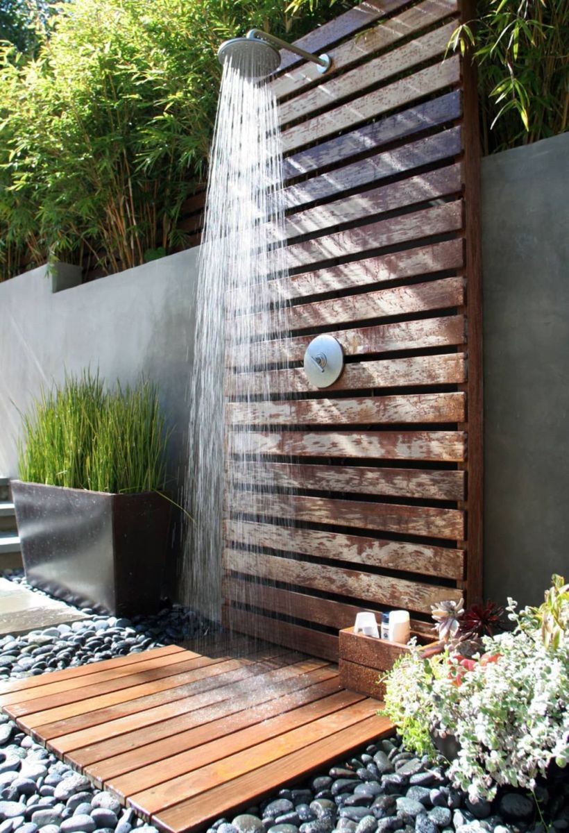Creative Outdoor Bathroom Design Ideas For Enjoying Summer 25