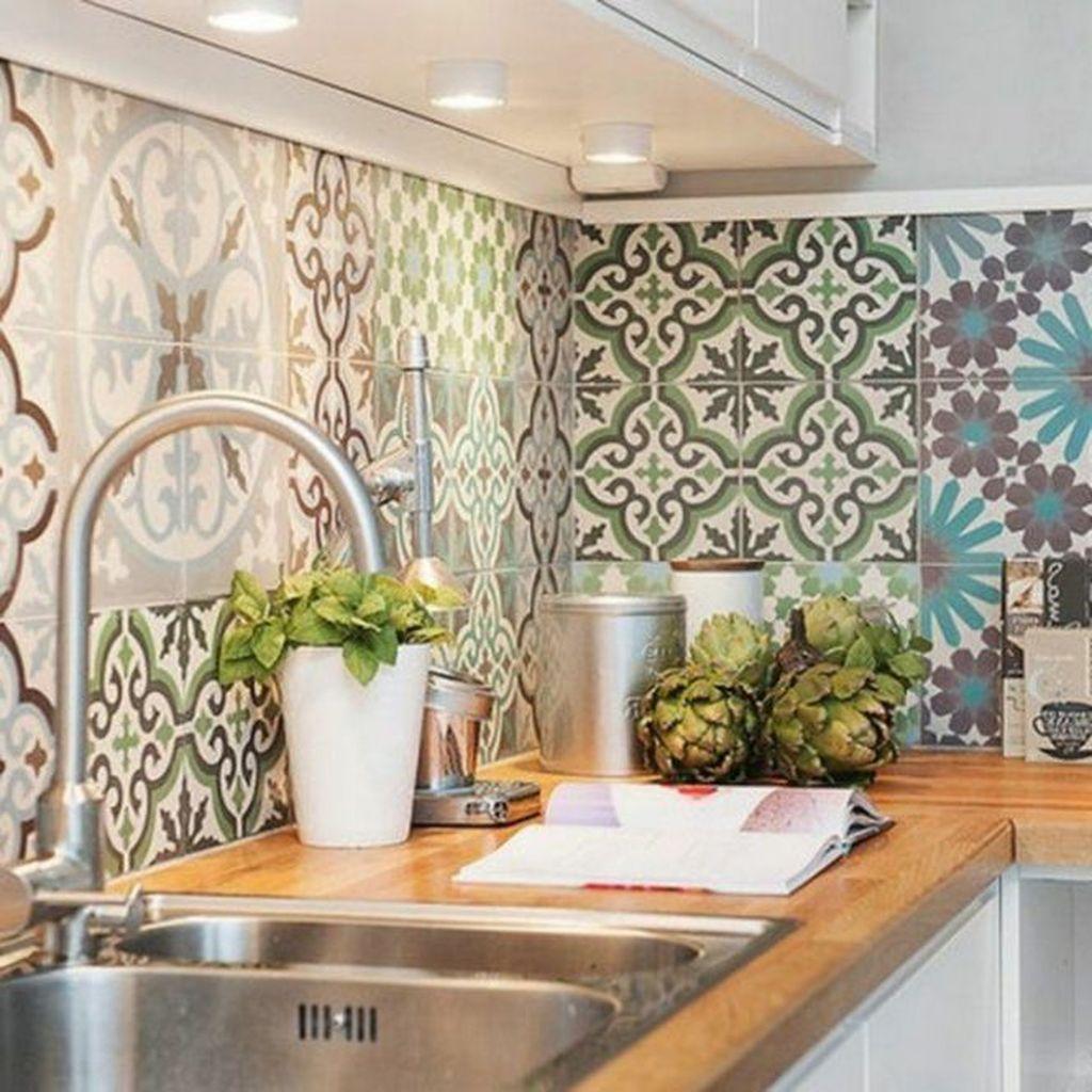 Fabulous Summer Kitchen Backsplash Ideas 20