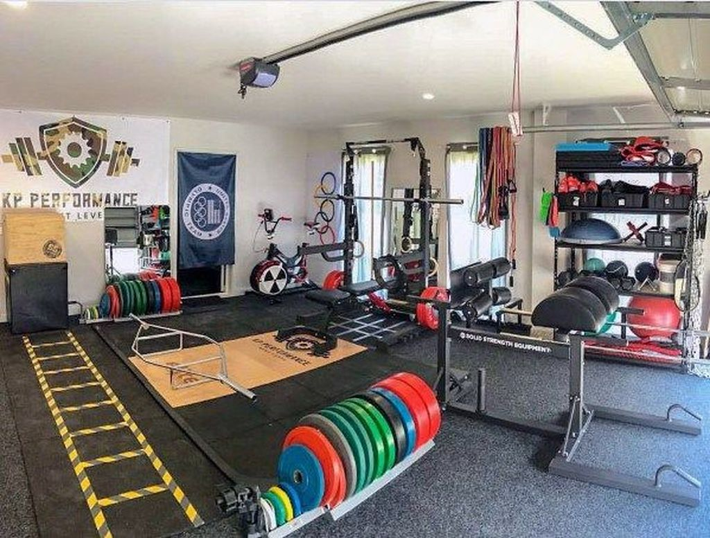 Gorgeous Home Gym Design Ideas Keep You Healthy 27