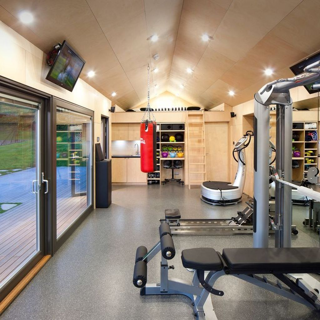 Gorgeous Home Gym Design Ideas Keep You Healthy 32
