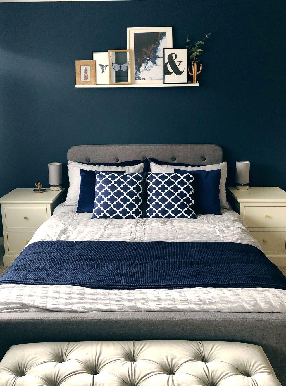 Inspiring Navy Blue Bedroom Decor Ideas You Should Copy 01