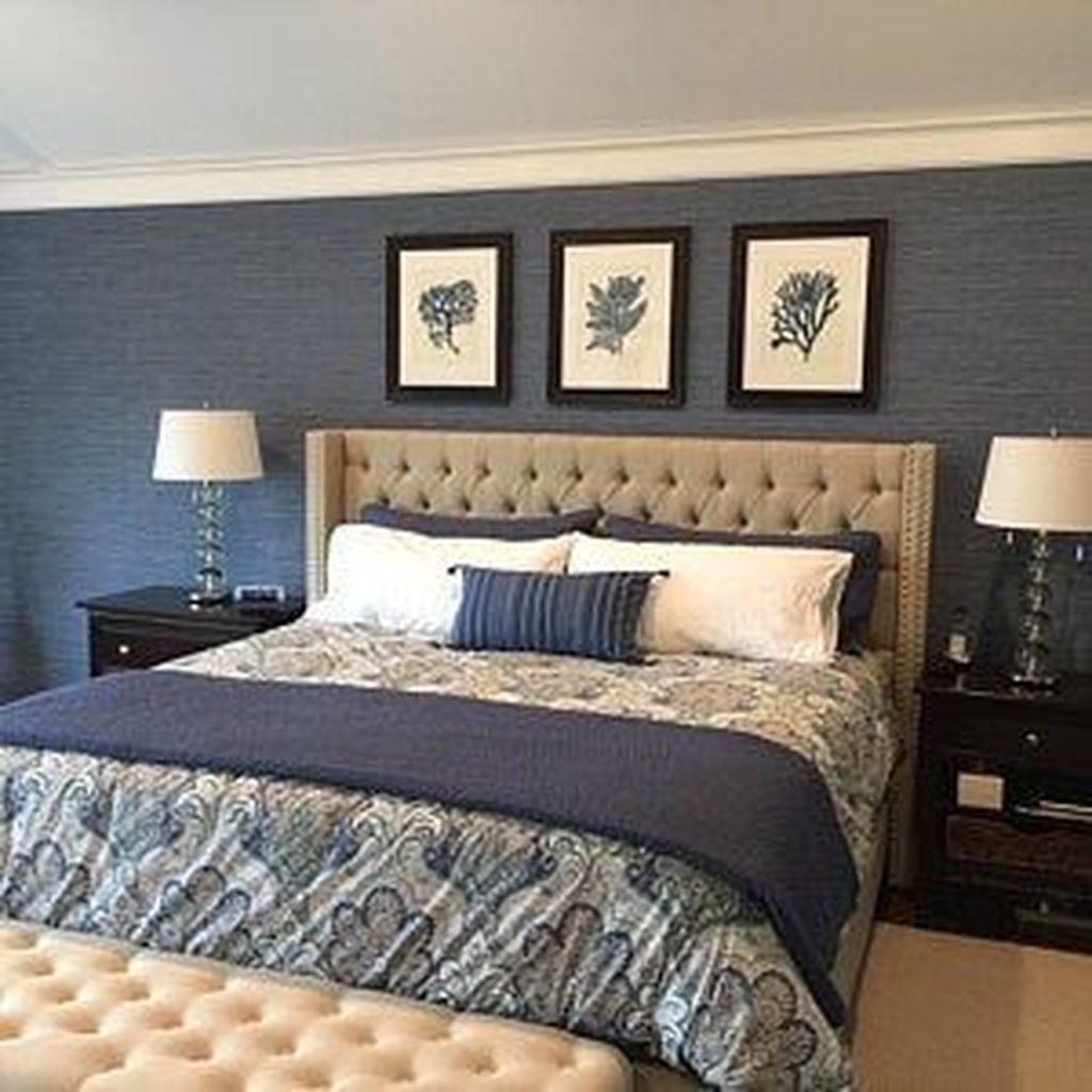Inspiring Navy Blue Bedroom Decor Ideas You Should Copy 23