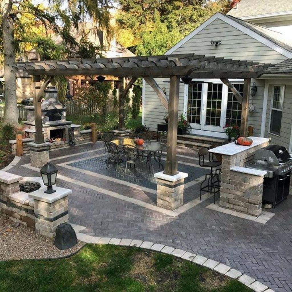 Inspiring Pergola Patio Design Ideas For Your Backyard Decor 09