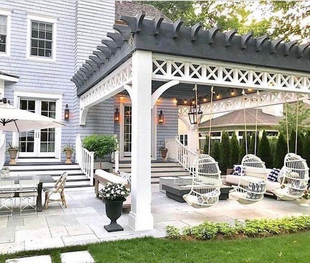 Inspiring Pergola Patio Design Ideas For Your Backyard Decor 23