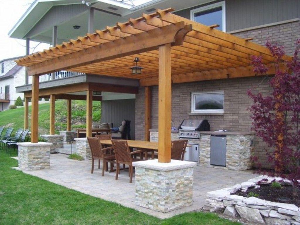 Inspiring Pergola Patio Design Ideas For Your Backyard Decor 24