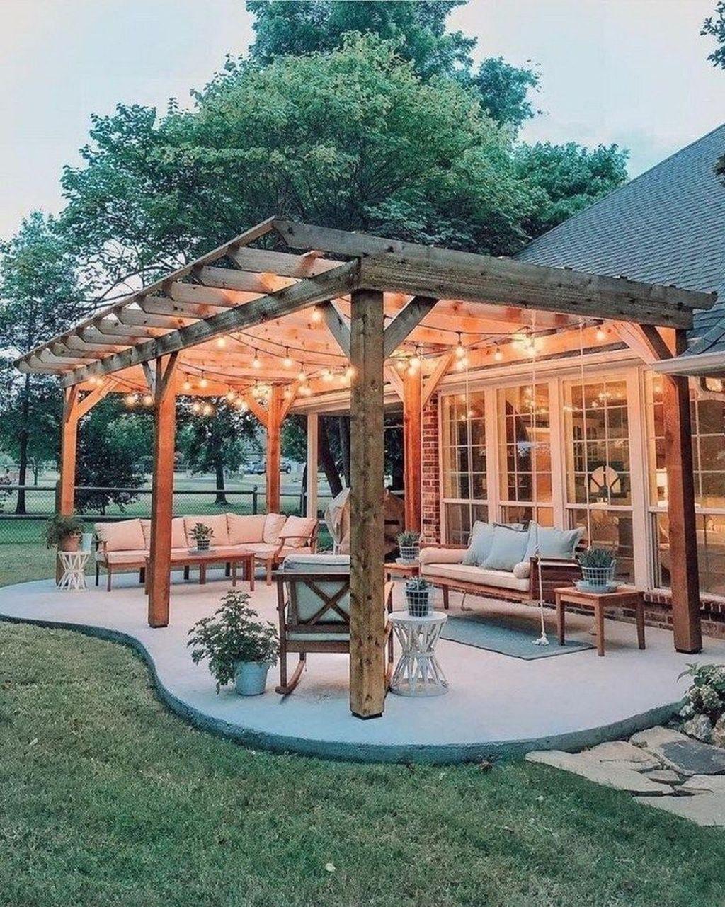 Inspiring Pergola Patio Design Ideas For Your Backyard Decor 27