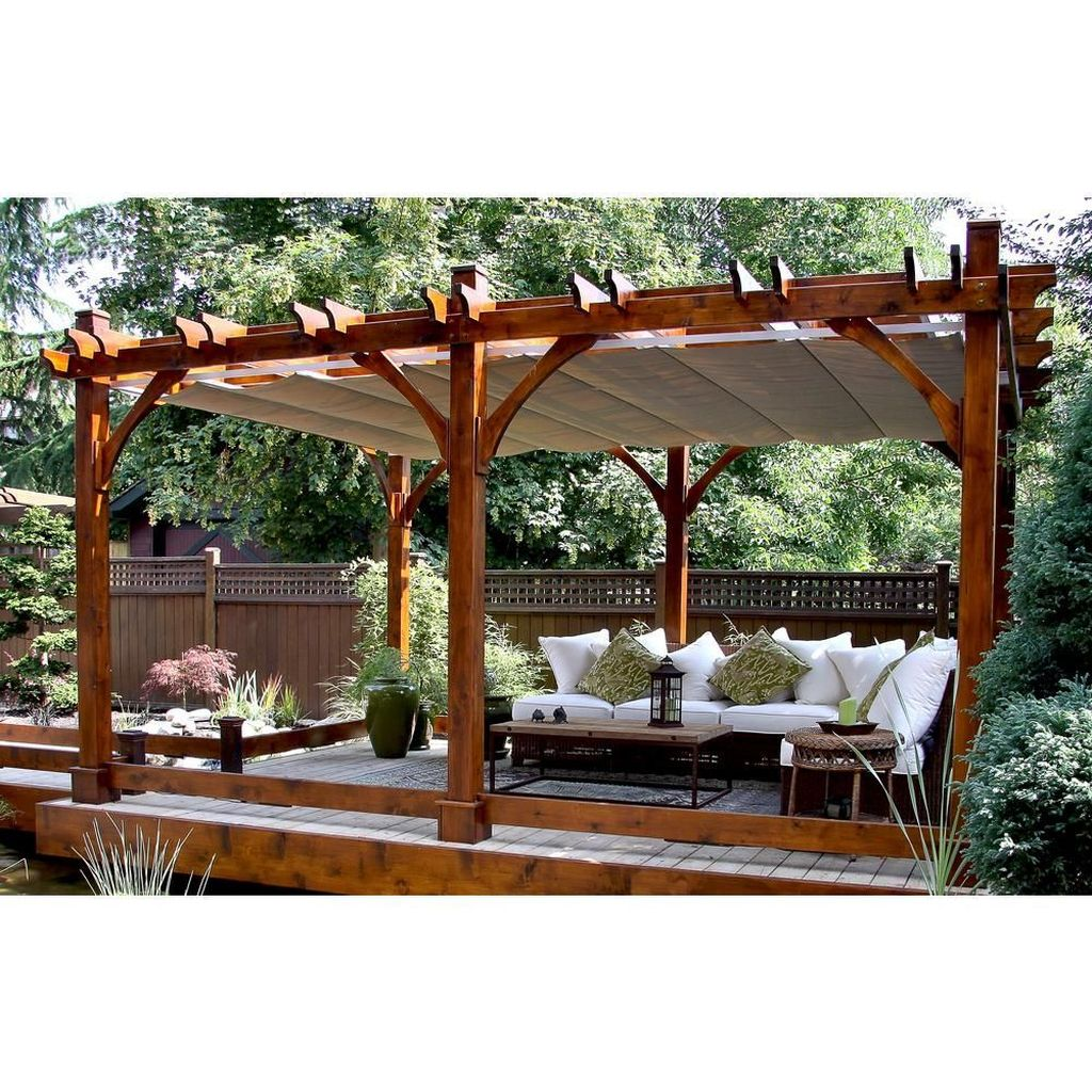 Inspiring Pergola Patio Design Ideas For Your Backyard Decor 35