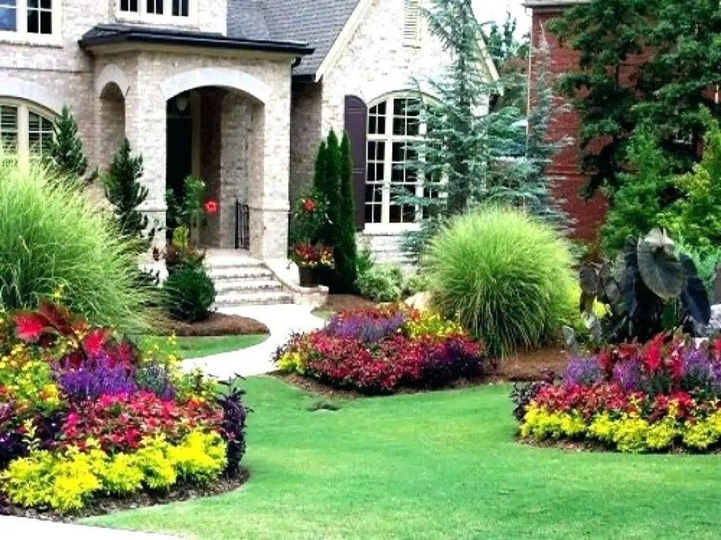 Lovely Flower Beds Design Ideas In Front Of House 07