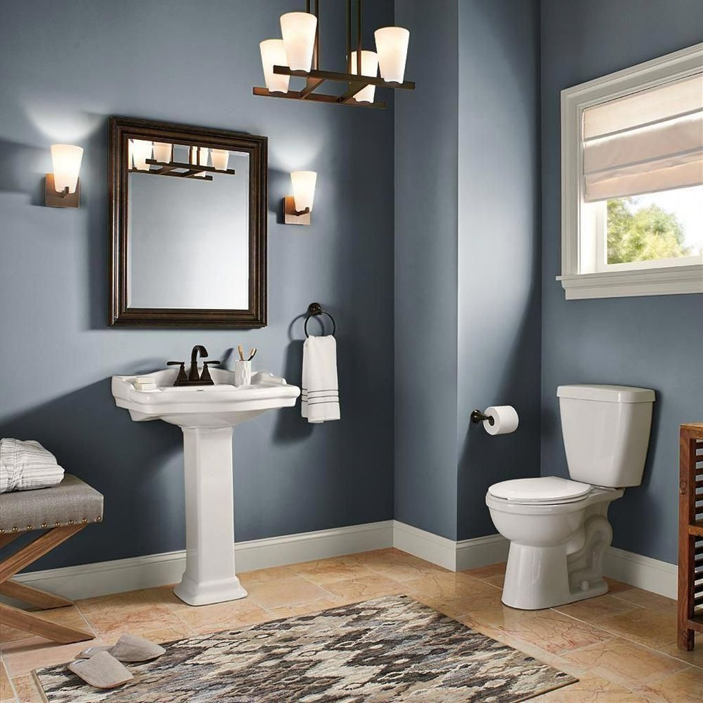 Nice Blue Color Bathroom Decor Ideas 04