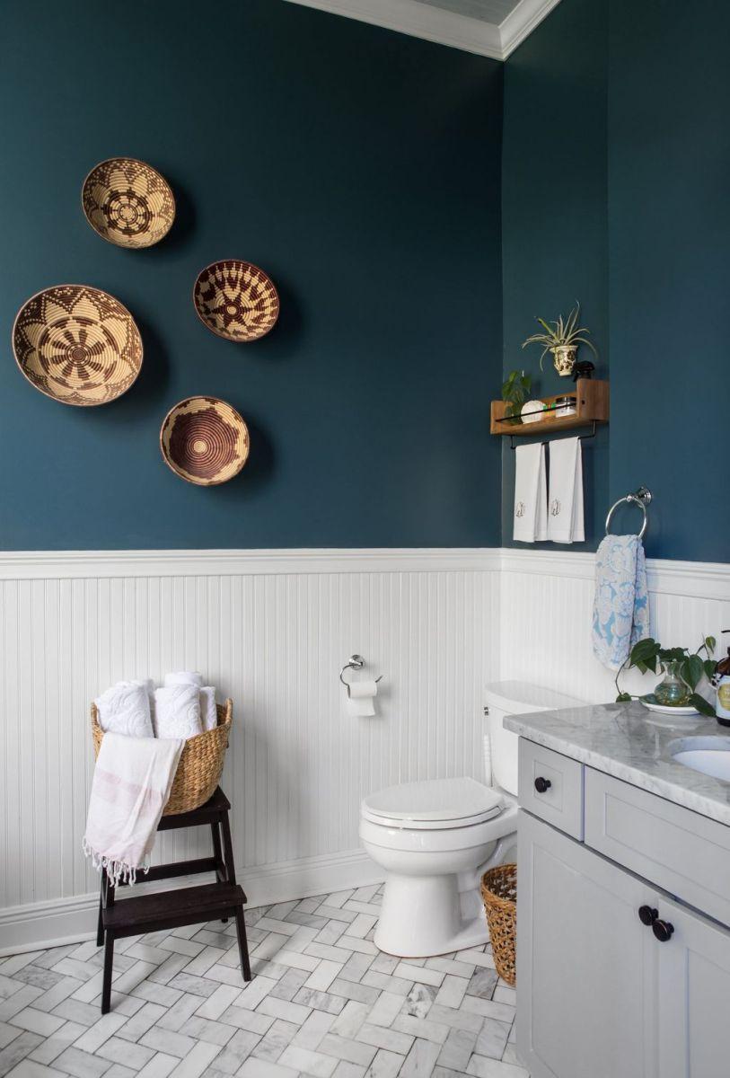 Nice Blue Color Bathroom Decor Ideas 05