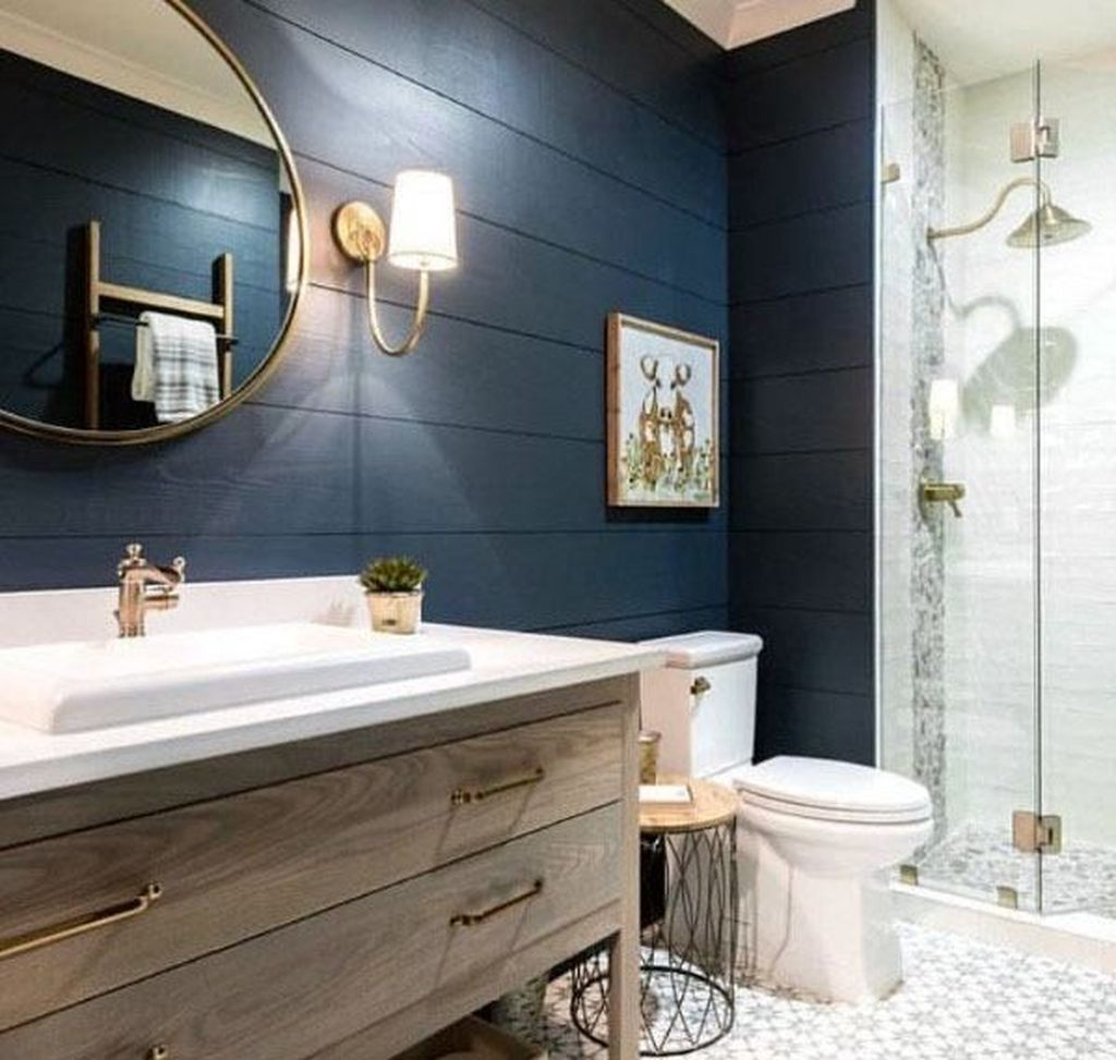 Nice Blue Color Bathroom Decor Ideas 09