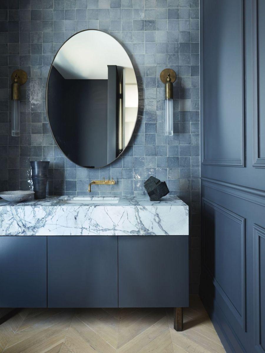 Nice Blue Color Bathroom Decor Ideas 13