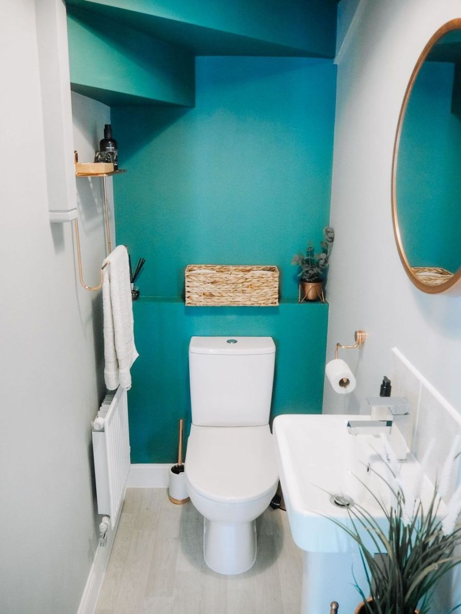 Nice Blue Color Bathroom Decor Ideas 17