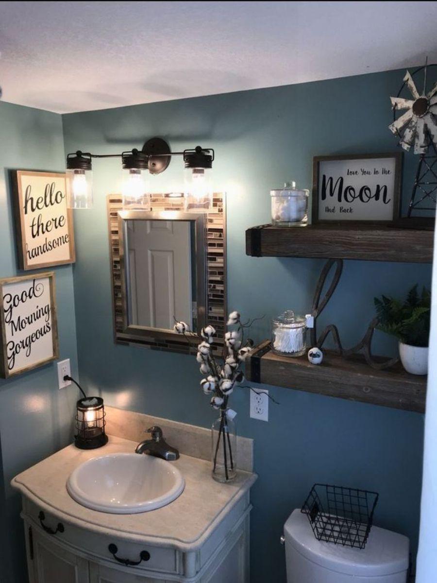 Nice Blue Color Bathroom Decor Ideas 21