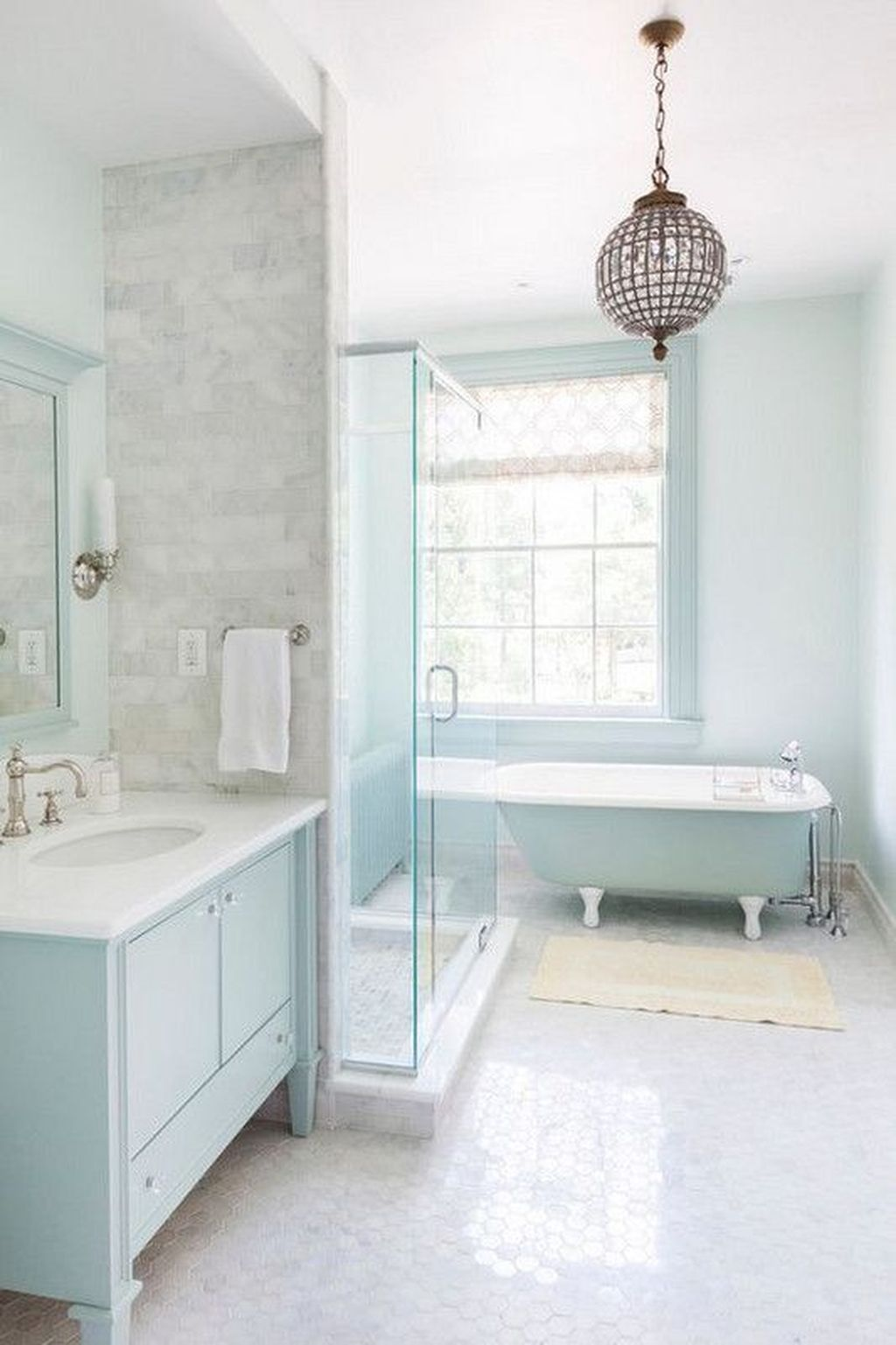 Nice Blue Color Bathroom Decor Ideas 23