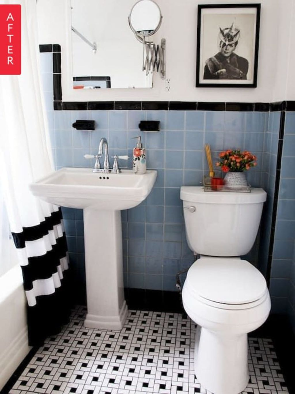 Nice Blue Color Bathroom Decor Ideas 29