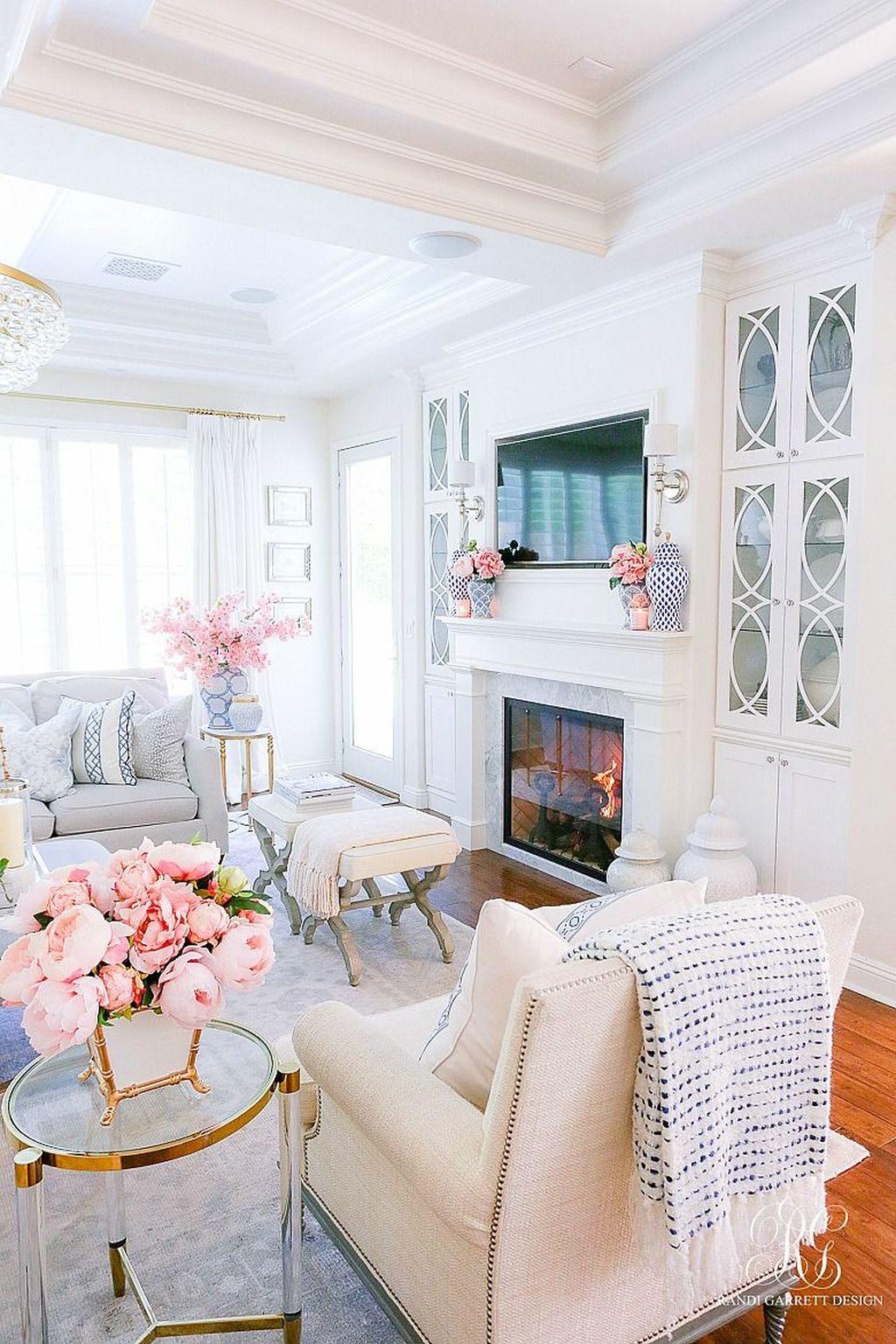 Popular Spring Living Room Decor Ideas 03