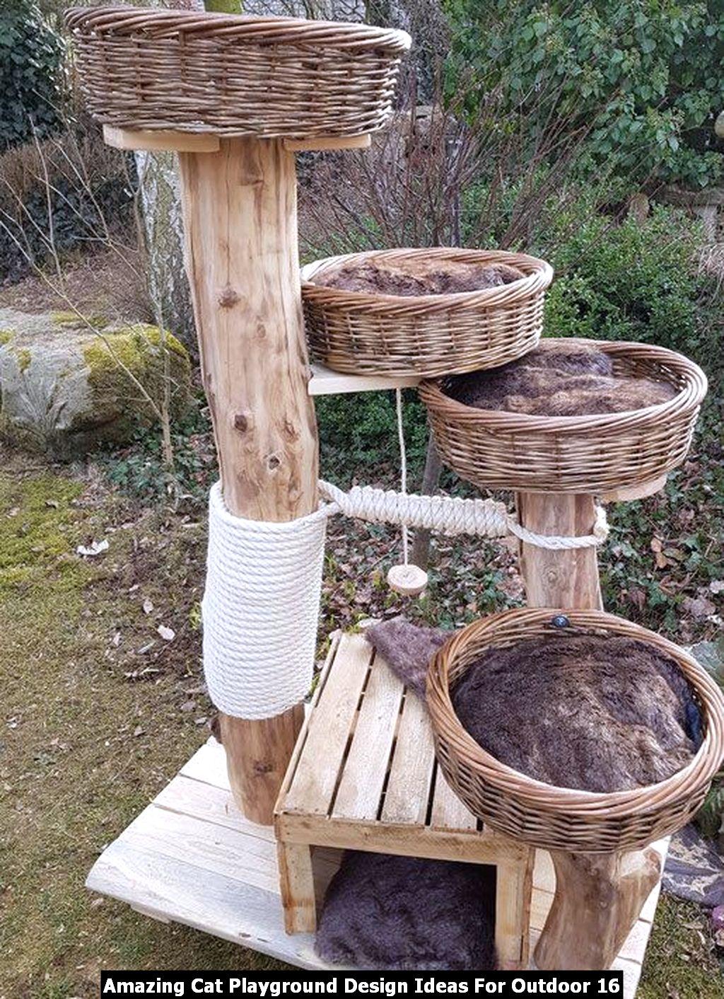 Amazing Cat Playground Design Ideas For Outdoor 16