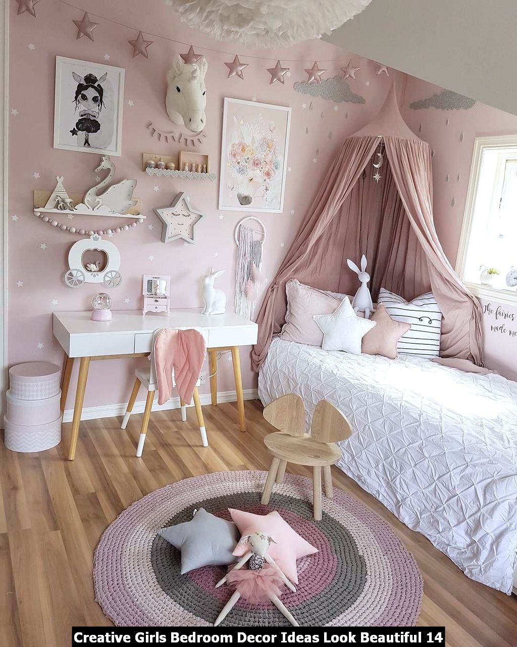 Creative Girls Bedroom Decor Ideas Look Beautiful 14