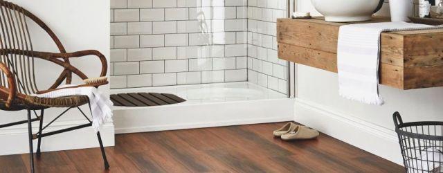 Wood Floor Bathroom