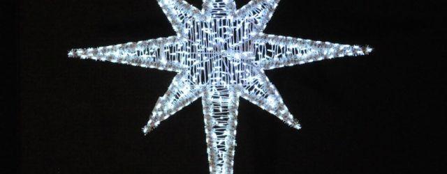 Outdoor Christmas Star Light
