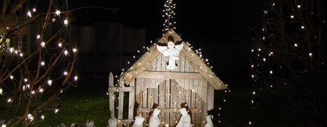 Outdoor Lighted Nativity Scene