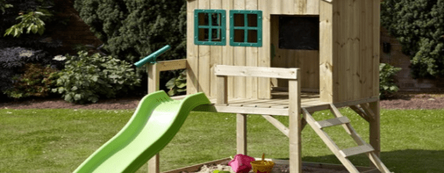 Outdoor Playhouse With Slide