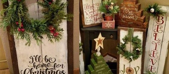 DIY Wood Christmas Decorations