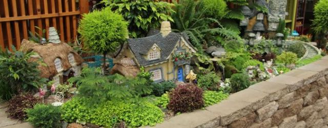 Large Outdoor Fairy Garden Ideas