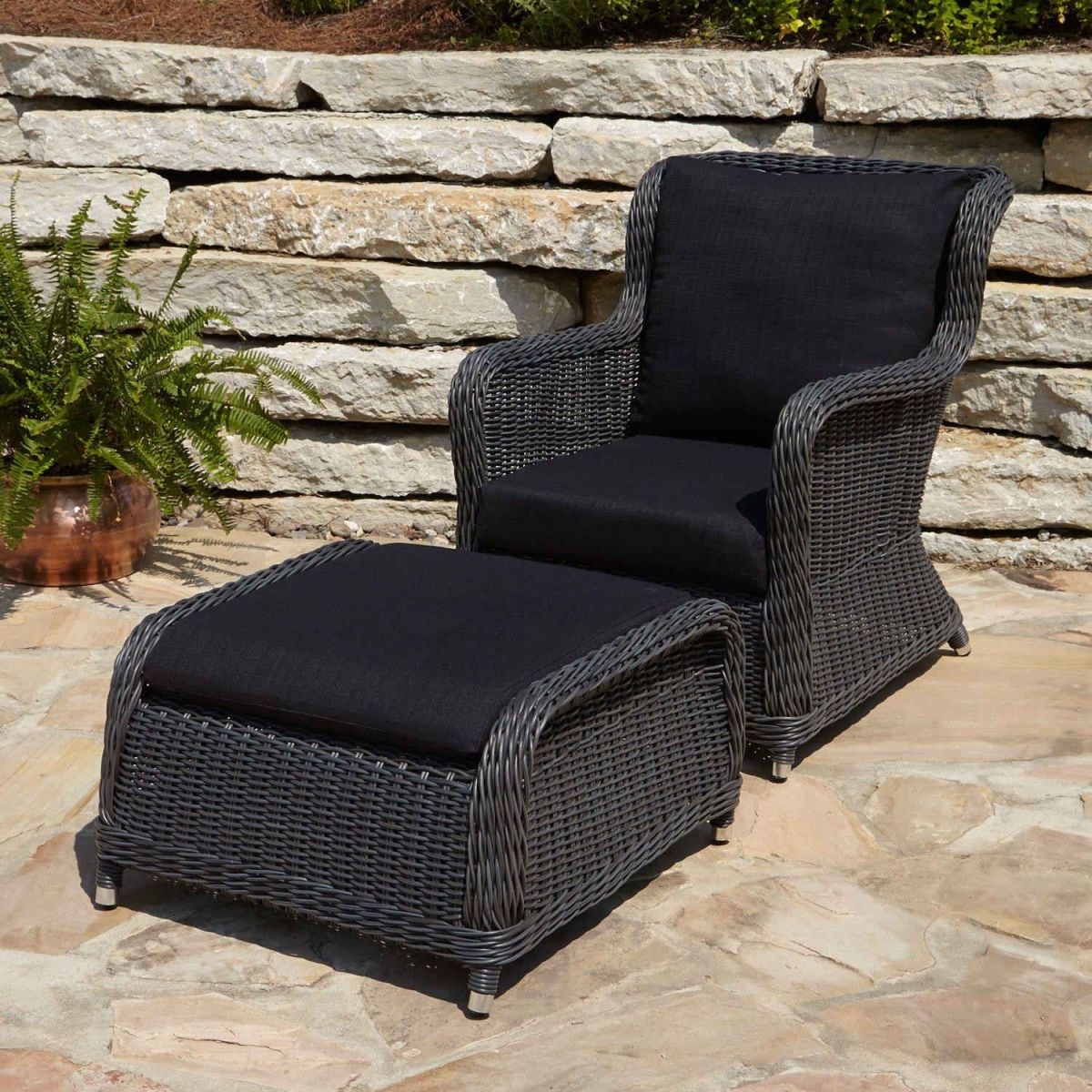 Outdoor Chair With Ottoman