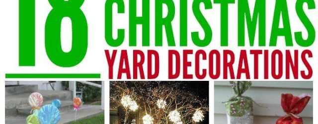 Front Yard DIY Outdoor Christmas Decorations