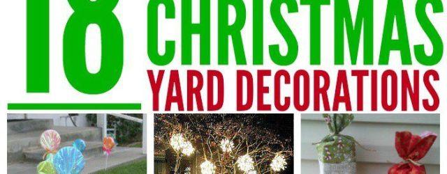 DIY Christmas Yard Decorations