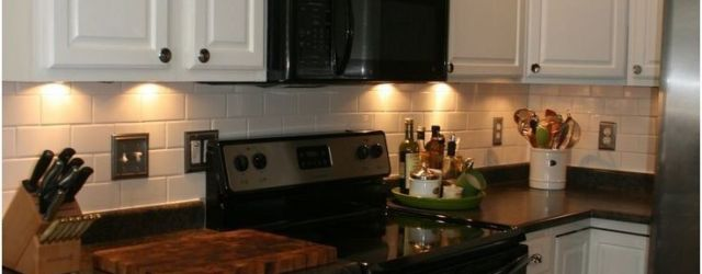 Kitchen With Black Appliances