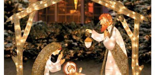 Lighted Outdoor Nativity Set