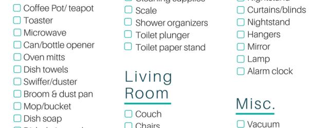 First Apartment Essentials