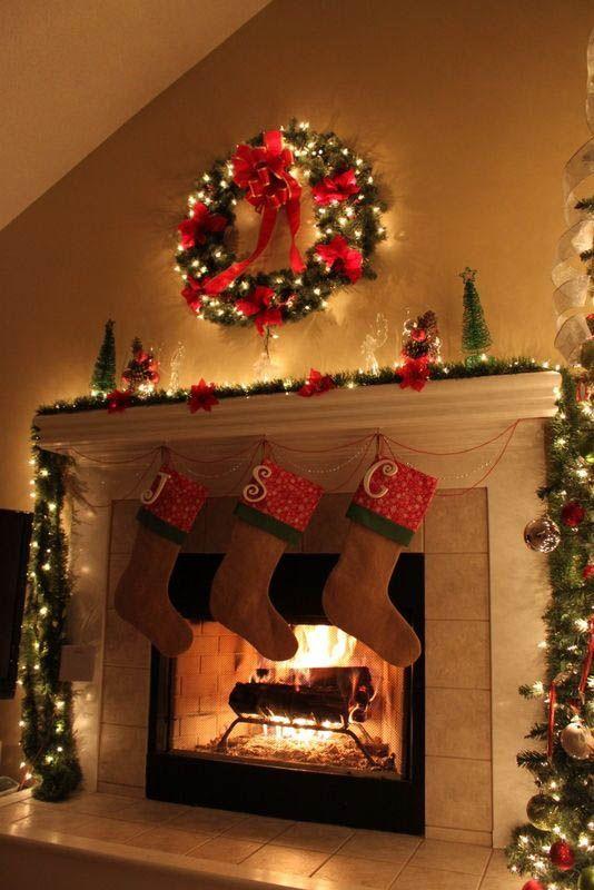 Fireplace Christmas Decor Ideas