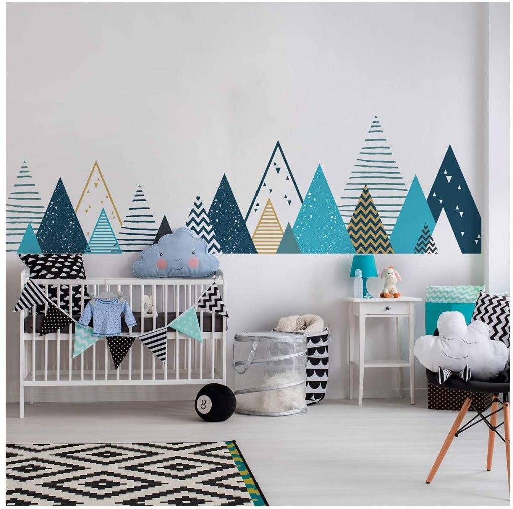 stickers geometrique chambre enfant